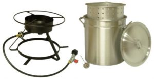 lobster pot and portable gas burner